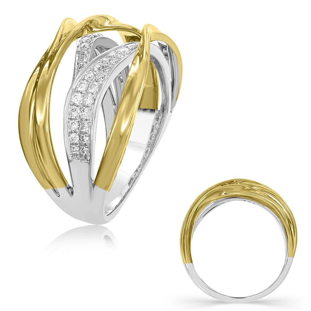 Yellow & White Gold Diamond Fashi