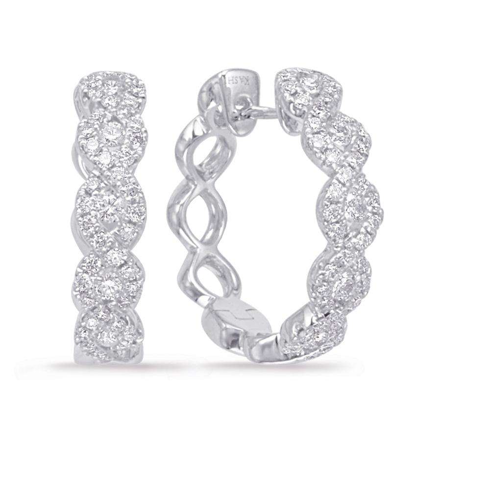 White Gold Diamond Hoop Earring