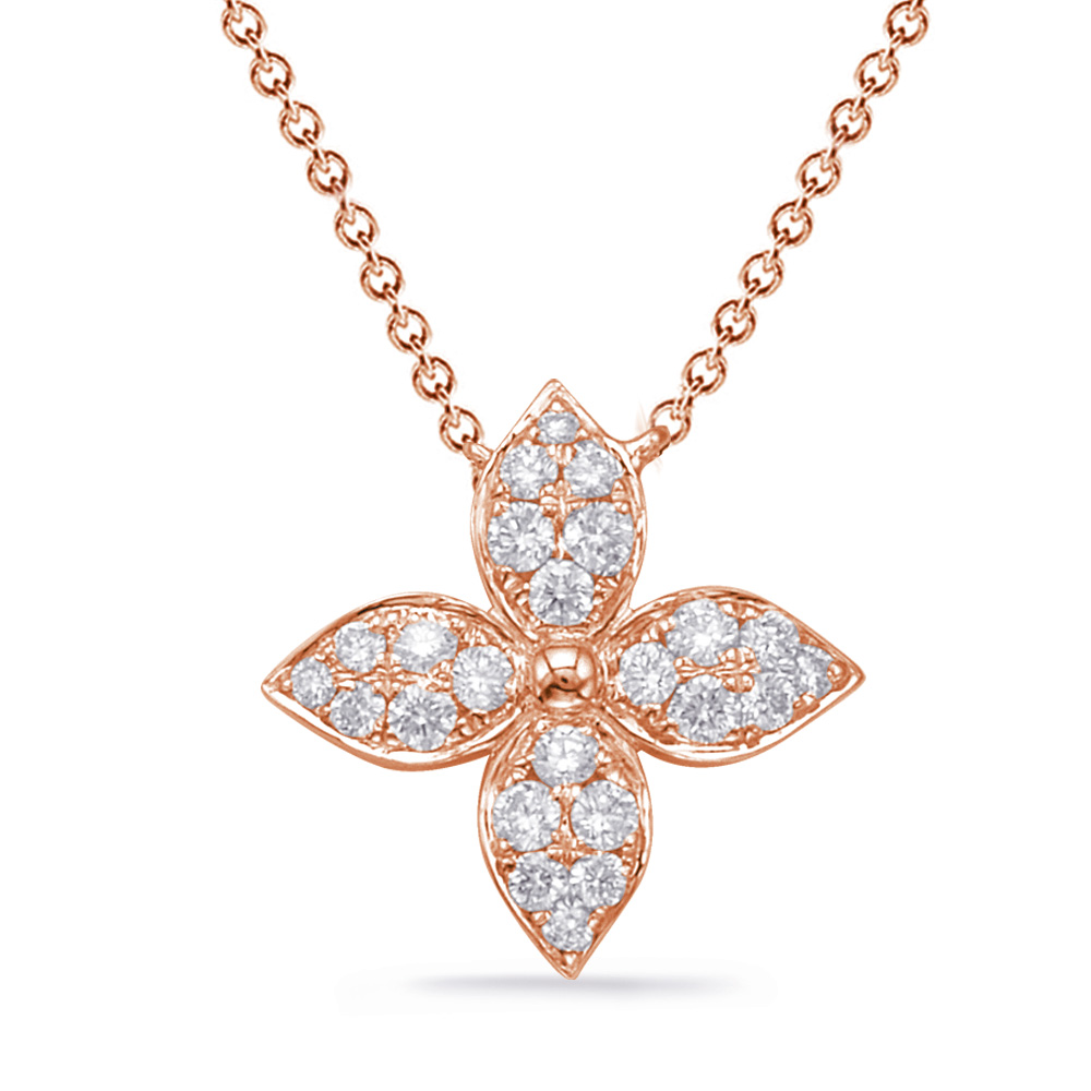 S kashi rose gold diamond necklace aloadofball Choice Image